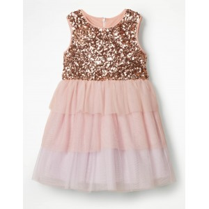 Sequin Tulle Tiered Dress