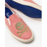 Embroidered Slip-On Shoes - Ecru