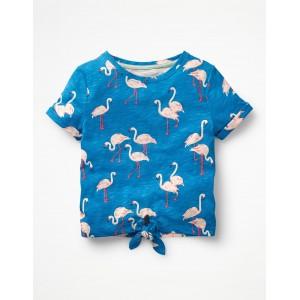Tie-front T-shirt