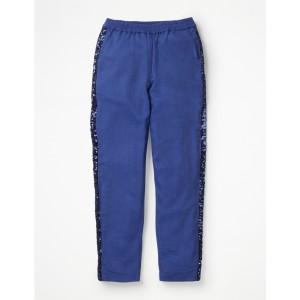 Sparkle Detail Woven Pants - Black