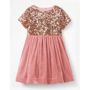 Velvet Sequin Party Dress