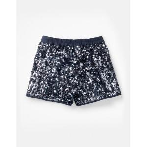 Sequin Shorts - Cobalt Blue Sequin Stripe