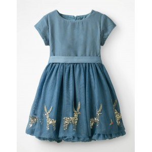 Velvet Applique Dress