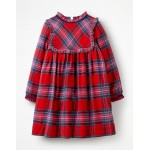 Festive Woven Check Dress