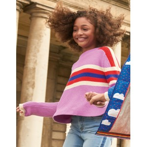 Colourful Knitted Sweater - Lilac Pink