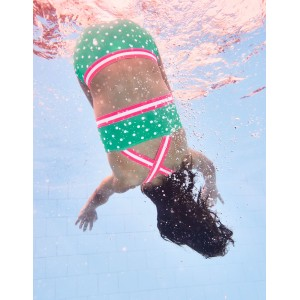 Surf Bikini Set - Jungle Green/Ivory Spots