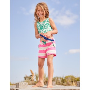 Towelling Shorts - Festival Pink/Ivory
