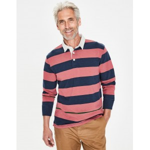 Hamersley Rugby Shirt - Washed Berry Multi Stripe