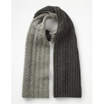 Cable Scarf - Grey Marl Cable