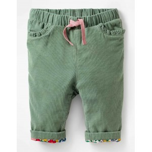Applique Pocket Cord Pants