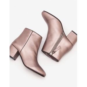 Tredegar Ankle Boots - Pewter Metallic