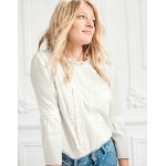 Lace Pintuck Top - Ivory