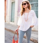 Tilda Glitter Top - White