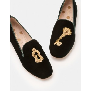 Lucy Embellished Slippers - Chatsworth Green