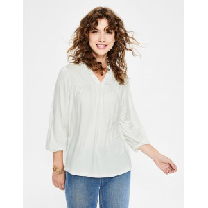 Bea Jersey Top - Ivory