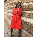 Lindfield Wrap Coat - Post Box Red