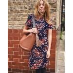 Easy Shift Dress - Mulled Wine Starry Bird