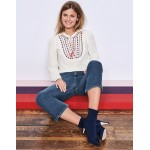 Polly Embroidered Top - Ivory
