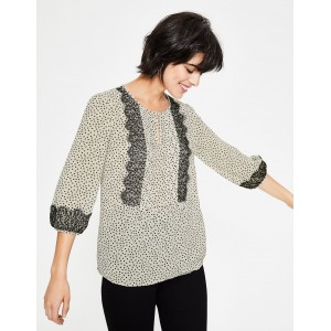 Cynthia Top - Ivory, Scattered Spot