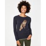 Christmas Sweater - Metallic Owl