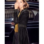 Grosvenor Party Coat - Black with Gold Bird