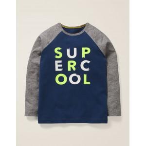 Slogan Raglan T-Shirt - College Blue Super Cool