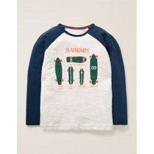 Slogan Raglan T-Shirt - Oatmeal Marl Skateboards