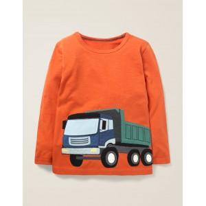 Novelty Vehicle T-Shirt - Lava Orange Truck