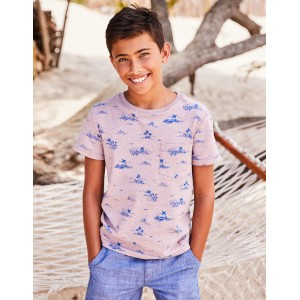 Exotic Island T-Shirt - Pink Tropical Surf
