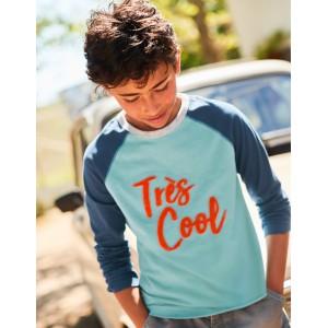 Textured Raglan T-Shirt - Ocean Scene Blue Troes Cool