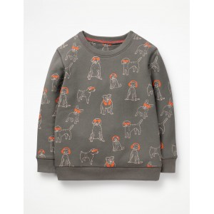 Printed Sweatshirt - Pewter Grey DJ Dogs