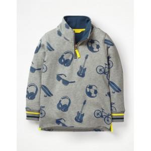 Half-Zip Sweatshirt - Grey Marl Day Out