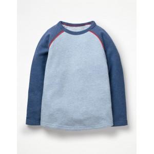 Raglan T-Shirt - Pale Blue Marl