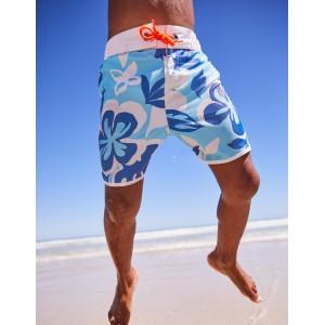 Surf Shorts - Blue Painted Hawaiian