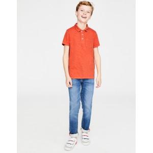 Garment-Dyed Jersey Polo - Tropical Orange