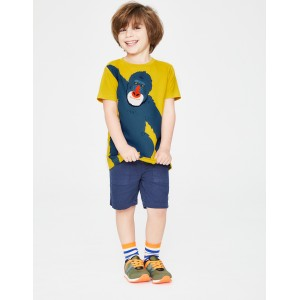 Animal Applique T-Shirt - Mimosa Yellow Ape