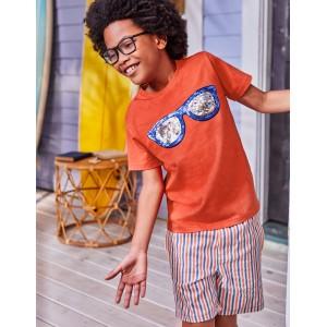 Colour Change Sequin T-Shirt - Tropical Orange Sunglasses