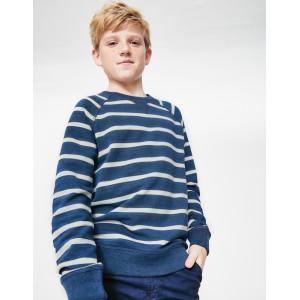Surf Sweatshirt - Indigo Blue/White