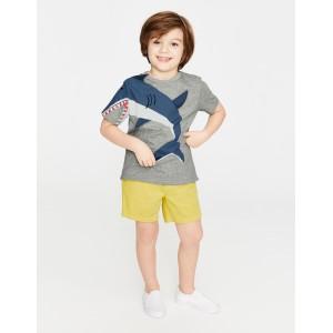Novelty T-Shirt - Grey Marl Shark