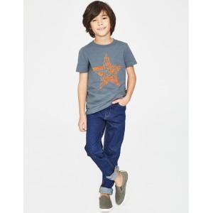 Printed Music T-Shirt - Tin Blue Star