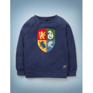 Hogwarts Crest Sweatshirt - College Blue