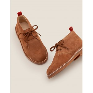 Lace-Up Desert Boots - Tan