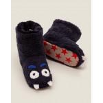 Monster Slipper Boots - Navy