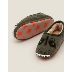 Dinosaur Slippers - Country Green