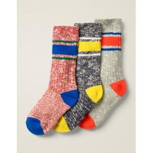 3 Pack Chunky Socks - Multi Stripe