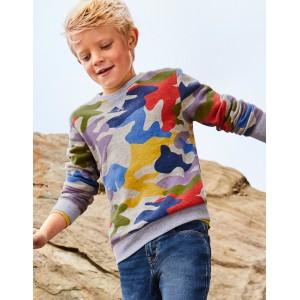 Cosy Sweatshirt - Mid Grey Jaspe Camouflage