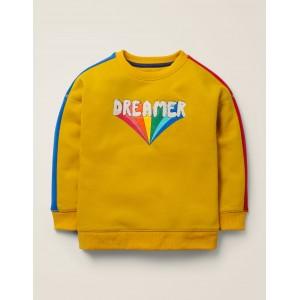 Rainbow Graphic Sweatshirt - Tuscan Sun Yellow