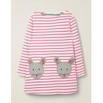 Applique Pocket Tunic - Ivory/Pink Sorbet Mice