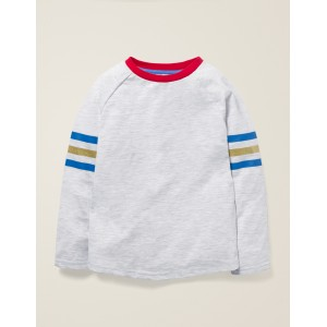 Raglan Stripe T-Shirt - Ivory