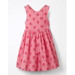Cross-Back Printed Dress - Flamingo Pink Floral